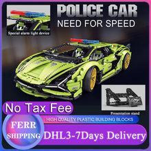 2021 MOC Car 3962Pcs Building Blocks Technical Lamborghinis Sian Super Racing Model Gift For Boyfriend Bricks Kids Birthday Gift