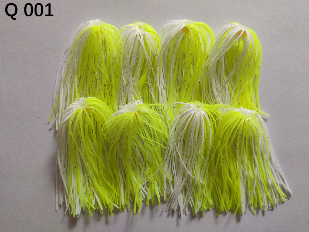 8 Bundles 50 Strands Silicone Skirts Wire Fishing Accessories For Buzzbait SpinnerBait Jig Bass Lure Q 001