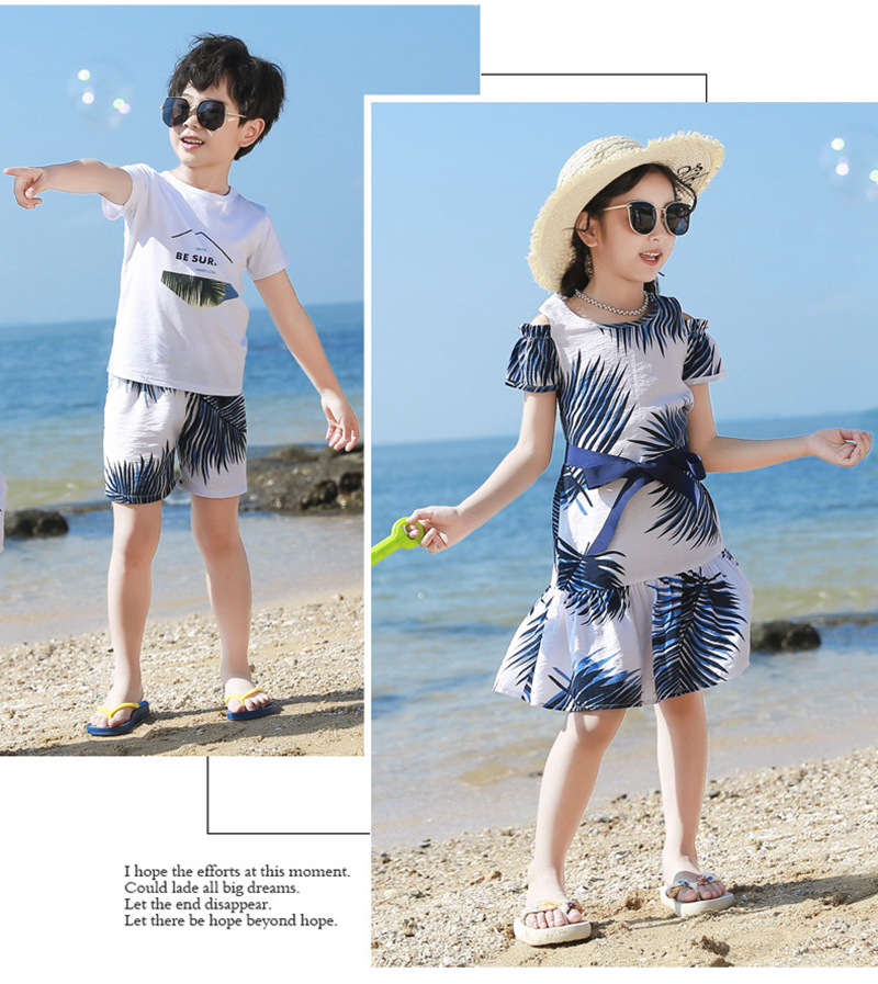 H8b05f21e234d4837b3c7c41e9c624ec2l - Summer Family Matching Outfits Mother Daughter Beach Vocation Dresses Summer Dad Son T-shirt+Shorts Couples Matching Clothing