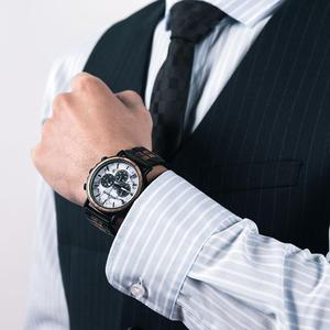 Image 5 - relogio masculino BOBO BIRD Watch Men Luxury Stylish Wood Watches Timepieces Chronograph Military Quartz Mens Gift