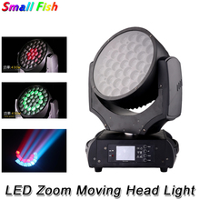 цена на Zoom Moving Head Light 37X20W RGBW 4IN1 LED Moving Head Beam Wash Light DMX Disco Strobe Stage Light Party Nightclub Show Light