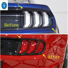 Yimaautotrims Auto Accessory Rear Back Lamp Tail Lights Taillight Cover Kit Fit For Ford Mustang 2018 2019 2020 ABS Carbon Fiber