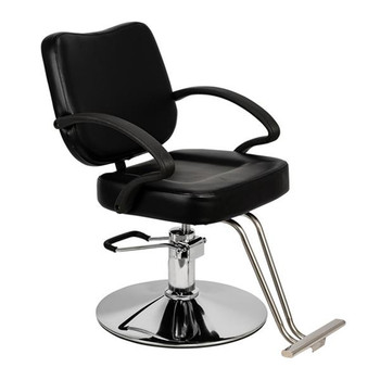 HC106 Woman Barber Chair Hairdressing Chair Black  Leather Surface Easy To Wipe Clean Barber Chair Non-slip Feet