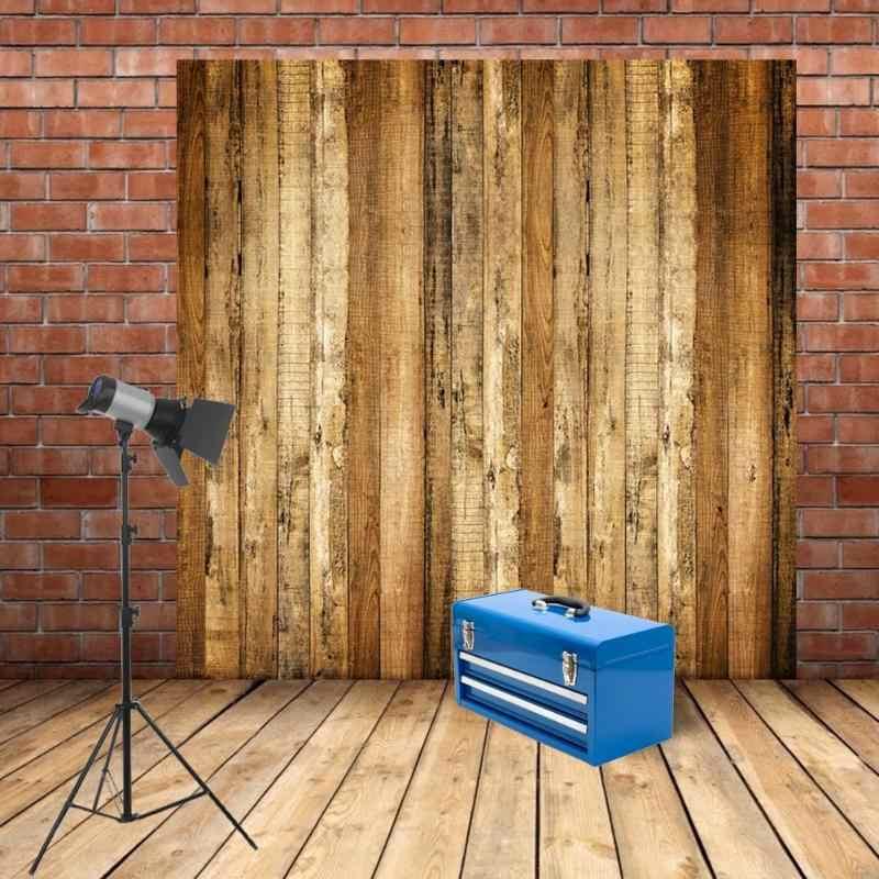 Planche en bois photographie fond rétro planches Texture gâteau nourriture fond Durable tissu toile de fond pour Photo Studio 60x60cm