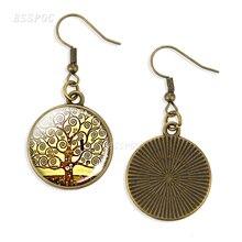 Women Klimt Tree Of Life Earrings Tree Drop Earring Gustav Klimt Art Jewelry Student Gift gustav klimt drawings