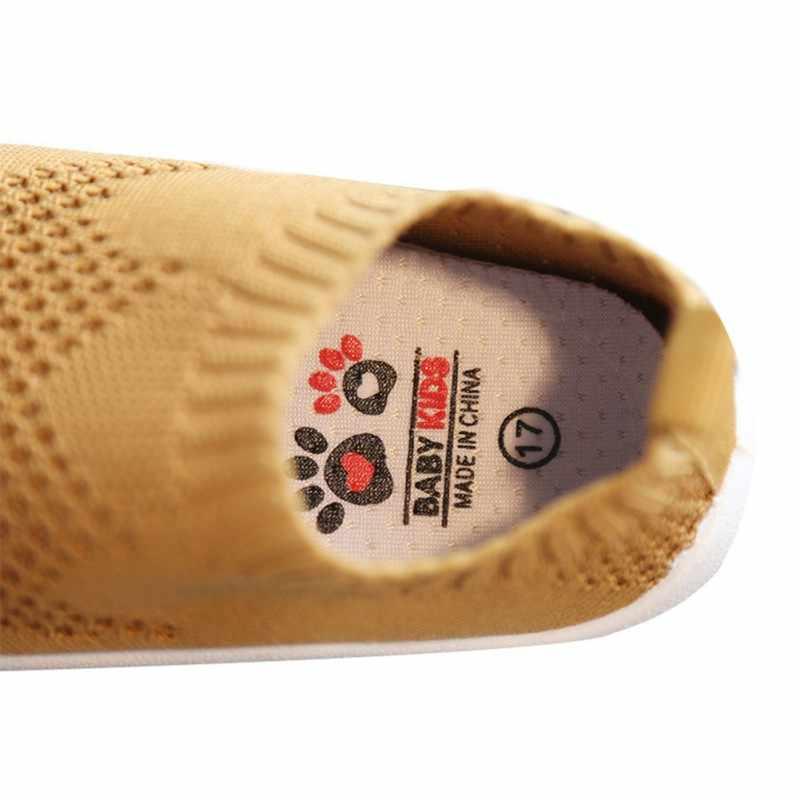 Frühling Neugeborenen Kleinkind Schuhe Mädchen Jungen Casual Mesh Schuhe Weiche Sohle Anti slip Gestrickt Kind Baby Erste Wanderer Schuhe 12 cm-16,5 cm