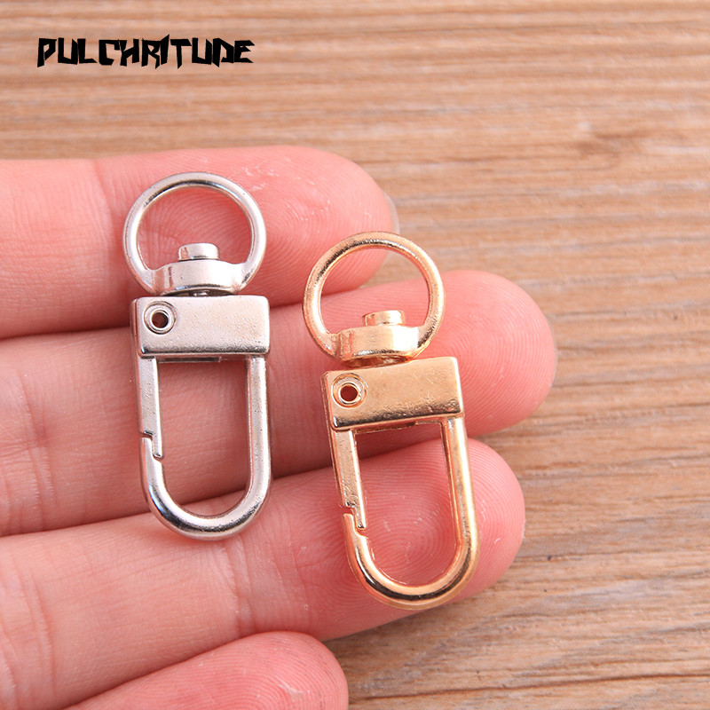 8pcs 13*34mm 2020 New Two Color Rhodium Plated Jewelry Findings,Lobster Clasp Hooks For Necklace&Bracelet Chain DIY 2