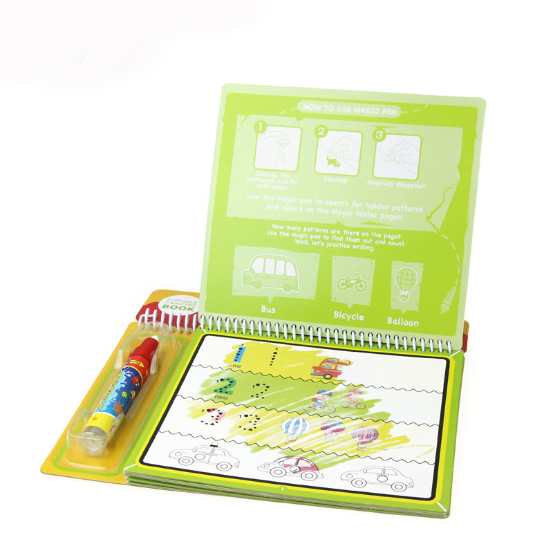 Magic Color Painted With Numbers Doing Homework Water Drawing Book Explicit Drawing Book Water Graffiti Early Education New Styl