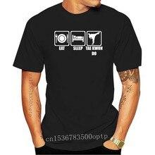Mens T Shirts Fashion 2020 T Shirt Company Eat Sleep Taekwondo Karate Jujutsu Tee Shirt Shop
