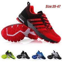 Для мужчин без носка, беспатная размера плюс, 47 (Европа); Дышащие мужские спортивные кроссовки со шнуровкой; Удобная повседневная прогулочна...