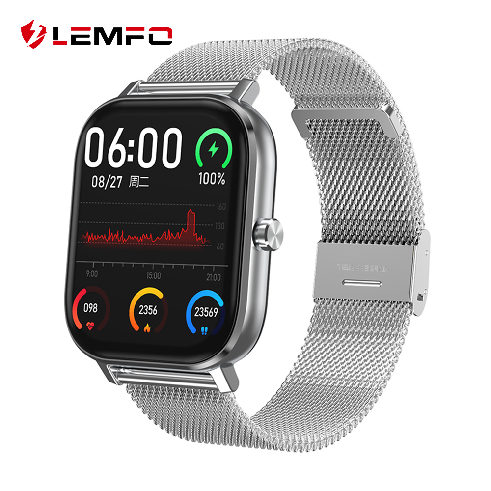 LEMFO Smart Watch 2020 New PPG ECG SmartWatch Men Bluetooth Call 24 Hour Heart Rate Monitor DIY Watch Face For Android GTS Smart Watches  - AliExpress