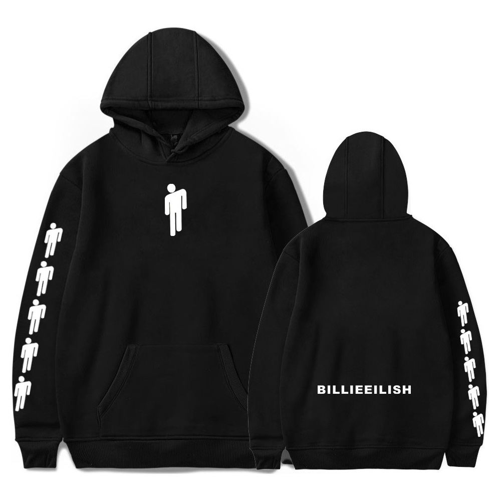 Billie Eilish Hoodie Men Black Cotton Hoodie Couple Billie Eilish Sweatshirt Simple Keep Warm Women/men Hoodie Clothes