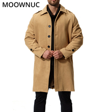 Winter Autumn Mens Coats Male Woollen Overcoat Fit Business Smart Casual Thick  Fashion Blends Brand Clothes MOOWNUC MWC