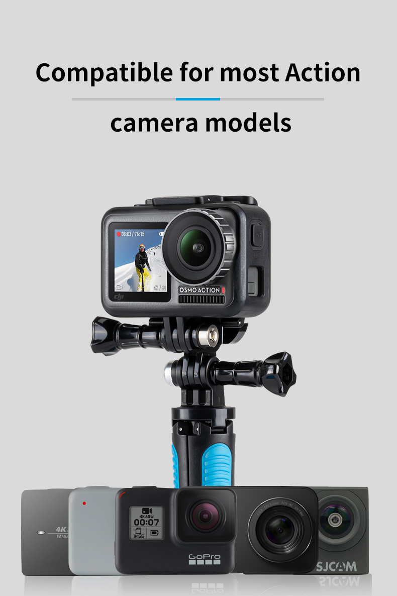 Xiaoyi and Other Action Cameras GoPro New Hero //HERO7 //6//5 //5 Session //4 Session //4//3+ //3//2 //1 Premium Material XIAOMIN Aluminum Alloy Tactical Hand Holder Grip for DJI New Action Black