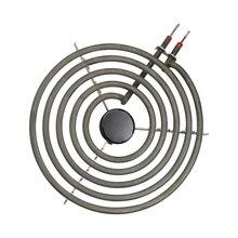 """2100w 230v 8 """"5 turnos elemento de aquecimento para queimador de superfície, tubo aquecedor em forma de bobina de panquecas 5 bobinas com tripé, tamanho traseiro, plano"""