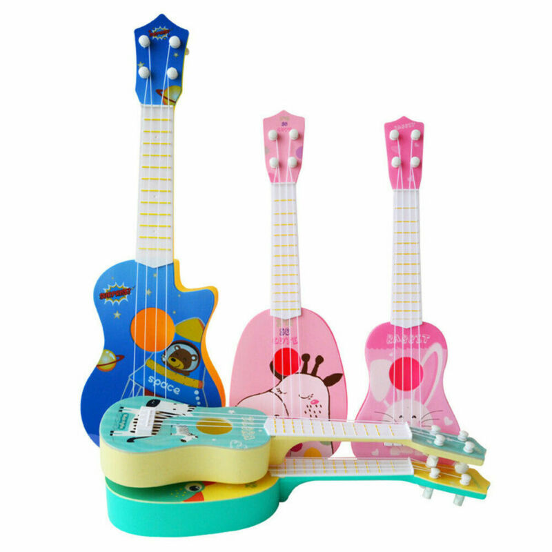 Mini Musical Cute Animal Pattern Fashion Classical Guitar Ukulele Instrument Children Kids Educational Play Toy For Kid Gift