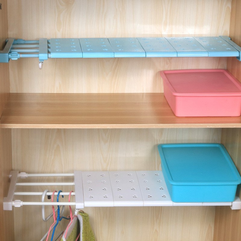 Adjustable Closet Organizer Storage Shelf Space Saving Wardrobe Decorative Cabinet Holders Wall Mounted Kitchen Rack Width 24CM