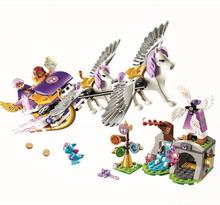 10413 Friend Series Fairy Elves Aira's Pegasus Sleigh Model Building Block Bricks Toys Compatible 41077 lepin 30017 505pcs elves series the aira