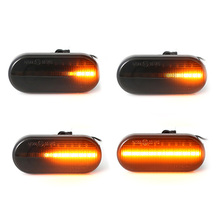 2pcs Car Turn Signal Lights Amber Color For MK4 Golf/J-Etta/Bora G-TI/R32 P-Assat LED Sequential Side Marker Light