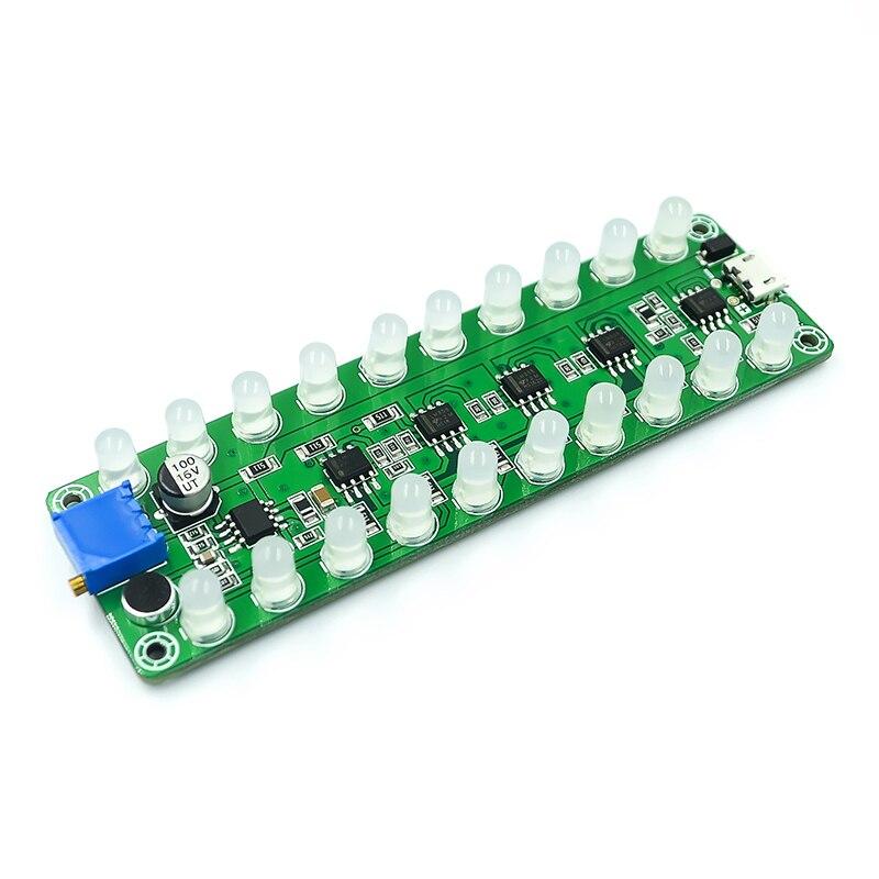 Голосовой усилитель мощности спектр аудио измеритель уровня Светодиодный индикатор вспышка световая Мелодия аудио партнер многоцветная