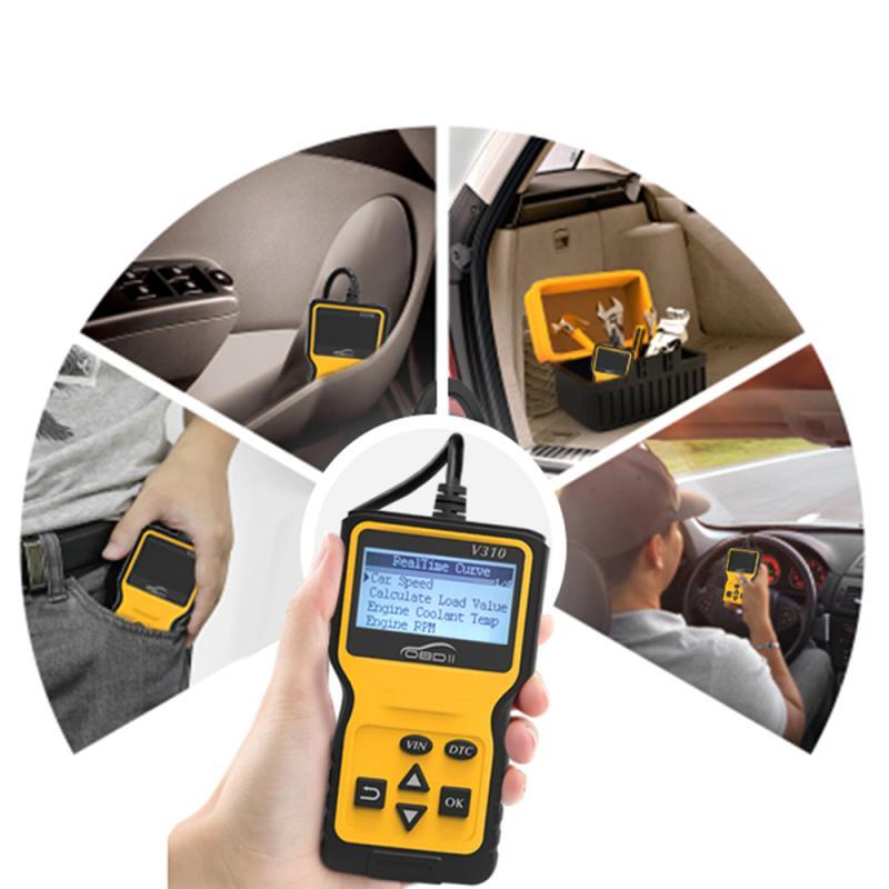 V310 OBD2 Scanner Multi Sprachen Auto Diagnose Scanner Mini Code Reader Auto Motor Fehler Checker Auto Werkzeuge Auto Produkte