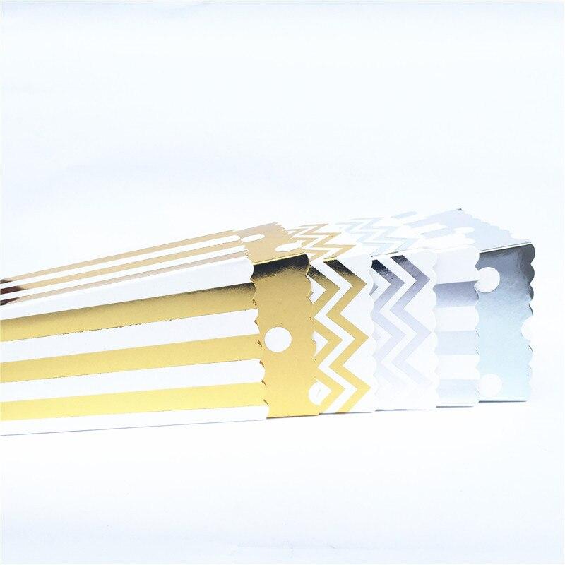 6/12pcs Gold Silver Dot Wave Stripe Paper Popcorn Box Pop Corn Candy/ Sanck Favor Bag Xmas Wedding Kid Birthday Party Decoration