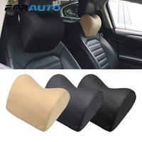 Forauto 1 pçs encosto de cabeça do carro pescoço travesseiro para cadeira de assento auto macio cabeça resto almofada pescoço proteção memória espuma algodão tecido capa|Almofada para pescoço| |  -