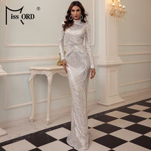 Missord 2021 женское осенне зимнее элегантное платье с высоким