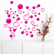 Colorful circle bubble bathroom stickers home decoration mural waterproof WC decorative for kids decals