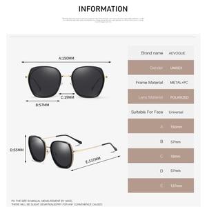 Image 4 - AEVOGUE ใหม่แฟชั่นผู้หญิงรูปหลายเหลี่ยมแว่นตากันแดด Polarized กรอบแว่นกันแดดขนาดใหญ่กลางแจ้งขับรถ Gradient เลนส์แว่นตา UV400 AE0833