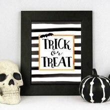Toile imprimée artistique drôle pour Halloween, décoration ou traitement, signe artistique, décor mural