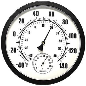 Temperature Hygrometer Indoor or Outdoor Hygrometer - Humidity Sensor for Porch, Patio, Pool Area, Garden and More