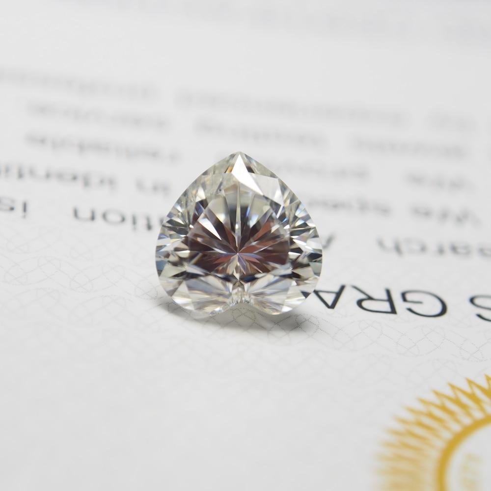 4*4mm DEF Coupe Coeur Blanc Moissanite Pierre Lâche Moissanite Diamant 0.21 carats pour Bijoux