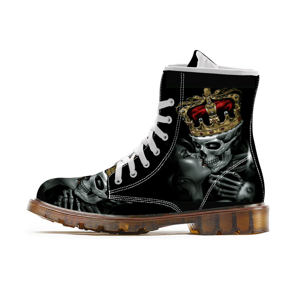 Custom <font><b>Shoes</b></font> Spring <font><b>3D</b></font> Printing Oxford High Top Rubber Boots Lace Up Lightweight Canvas Unisex Sneaker Casual Footwear For Men image