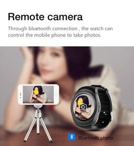 Image 5 - Y1 برو ساعة ذكية كاميرا مستديرة بلوتوث بطاقة SIM SmartWatch التحكم عن بعد الإناث الذكور اللياقة البدنية منظم ضربات القلب الرياضة ساعة