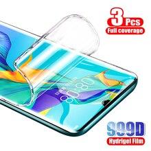 Protecteur décran, 3 pièces, Film Hydrogel pour Huawei P30 P40 P20 lite Mate 10 20 Pro