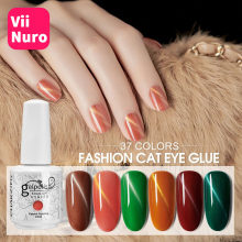ViiNuro 15ml Gel esmalte de uñas Cat Eye Hybrid Gel barniz para arte de uñas Semi permanente Gel UV imán fuerte capa de Base superior(China)