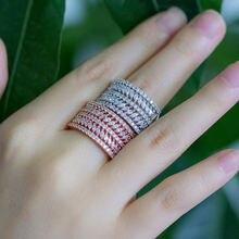 Высококачественные модные простые полукруглые женские кольца