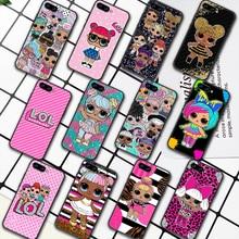 LOL Cute Cartoon Doll Girl Phone Case For HUAWEI Honor 6A 7A 8 8A 8S 8x 9 9x 9A 9C 10 10i 20 Lite Pro black Waterproof Silicone