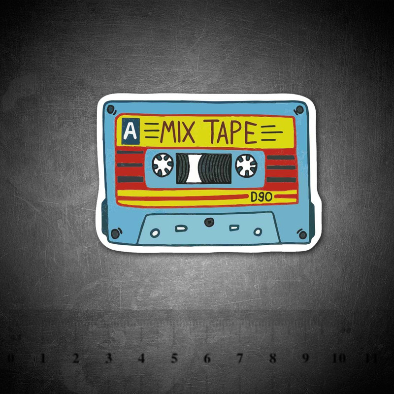 Cartoon Retro Music Tape Stickers For Suitcase Skateboard Laptop Luggage Fridge Phone Car Styling DIY Decal Sticker