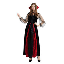 Umorden Halloween Costumes Gothic Vampire Costume Goth Maiden Victorian Vampiress Cosplay Long Dress for Adult Women S-XL