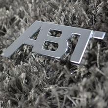 New 3D ABT logo refit car badge auto front grill emblem stickers car sticker decal