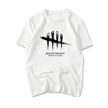 Dead By Daylight Printed T-Shirts Boys Short Sleeve Tees White Tops Men Cotton Short-sleeve T Shirt Unisex Funny Casual Tshirts