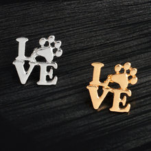 1PCS Exquisite Gold และ silver Letter (China)