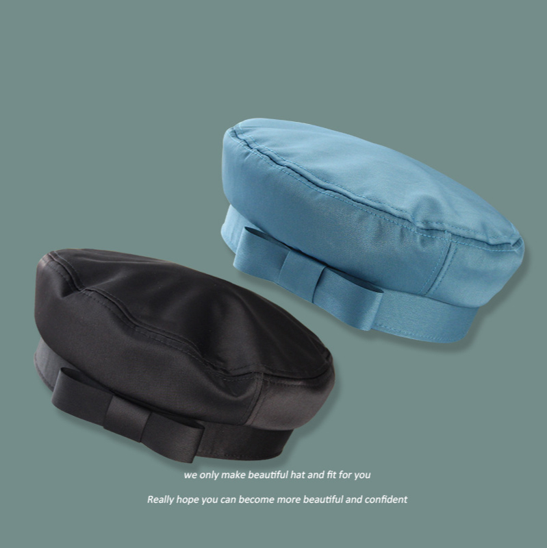 Autumn Winter Woman Hat Fashion Silk Ribbon Bow Beret Winter Hats Vintage Male Beret French Hat Navy Painter Caps