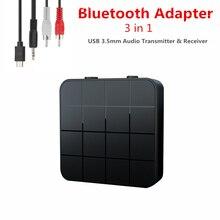 KEBIDU 3 ב 1 Bluetooth5.0 מקלט משדר אודיו סטריאו מוסיקה מתאם רכב דיבורית שיחת & מיקרופון עם כפתור מתג