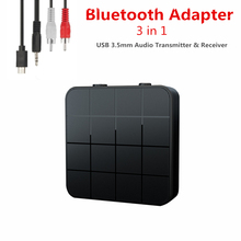 KEBIDU 3 IN 1 Bluetooth5.0 Receiver Transmitter Audio Stereo Music Adapter Car Handsfree Call & Microphone with Button Switch