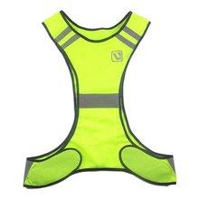 Светоотражающий жилет один размер, Регулируемый Безопасность, высокая видимость одежды ночной бег езда безопасности куртка