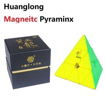 YuXin Huanglong 3x3x3 Magnetic jinzita Magic Cube Neo Cube Twisty Speed  Puzzle Brain Teaser Educational Toys For Boys yongjun diamond symbol 3x3x3 magic cube yj 3x3 professional neo speed puzzle antistress fidget educational toys for children