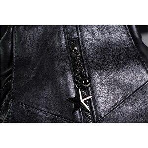 Image 4 - iPinee Fashion Cowhide Backpack Women Genuine Leather School Bag Female Travel Shoulder Bags Black/Brown Back Bags Mochila